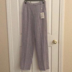 NWT Armani Collezioni Lavender Linen Trousers 4
